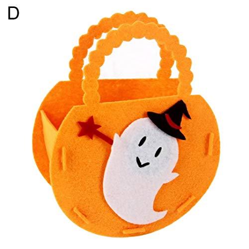 Steellwingsf tragbare Halloween Kürbis Form Candy Bag Lagerung Eimer Trick oder behandeln Dekor - Geist * (Geist Tragen Halloween-kostüme)