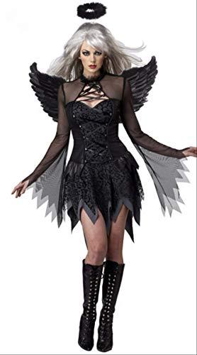 WARRT Halloween KostümHalloween Kostüme Weibliche Cosplay Kostüme Dämon Kleid Chiristmas Nacht Engel Sexy Jumpsuit (Original Kostüm Weiblich)