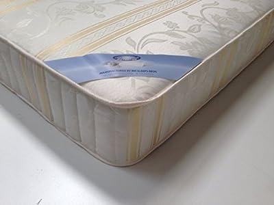 Mr Sleeps Beds Limited Memory Foam 3ft Single Mattress Luxury Gold Damask Fabric