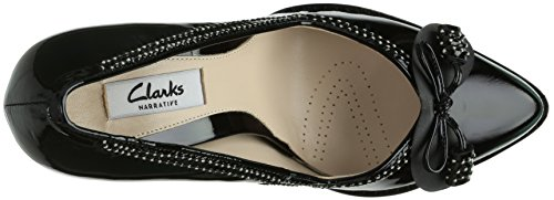 Clarks Deeta Bombay, Decolleté chiuse donna Nero (Black Pat)