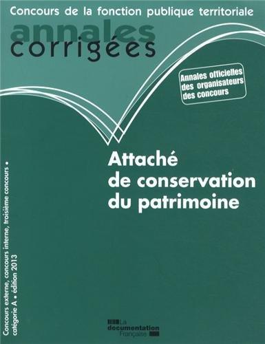 Attaché de conservation du patrimoine 2013 - Concours catégorie A