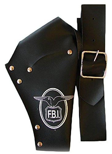 erdbeerclown - Kostüm Accessoire- Police Mottoparty- FBI Holster für Waffen, Schwarz