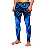Celucke Sport Leggings Herren Laufhose Strumpfhose mit Print, Männer Fitness Hose Pro Funktionswäsche Cool Compression Tights, mit Quick-Dry-Funktion