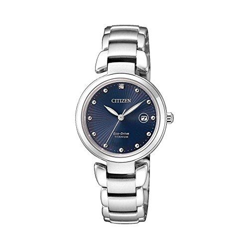 CITIZEN orologio Solo Tempo Donna SUPER TITANIUM EW2500-88L