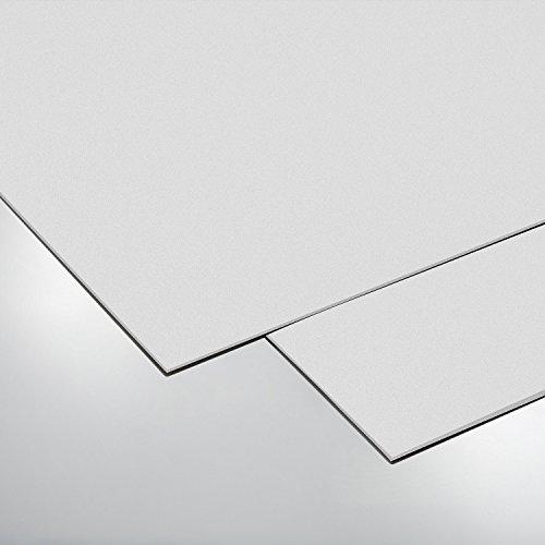 [70301035] COLOR Hartschaumplatte, Bastelplatte, Größe: 500 x 1000 mm, weiss, Stärke: 3mm, Kunststoffplatte -