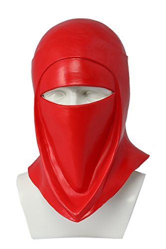 DealTrade Imperial Guard Helm Cosplay Kostüm Halloween Erwachsene Rot Latex Vollkopf Maske Kopfbedeckung Fancy Dress Merchandise