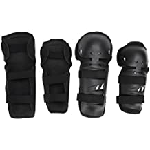 Gomitiere - All4you 4Pcs bici BMX adulto ginocchio pastiglie gomito pastiglie polso guardie Set di protezioni per mountain bike, equitazione, escursioni in bicicletta e Multi sport, Scooter, Skateboard, biciclette, pattini a rotelle - 20 Ragazze Bmx Bicicletta