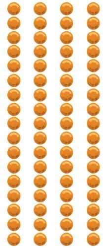 Crystal Stickers Elements 5mm Round 68/Pkg-Orange (Mark Crystal Sticker)