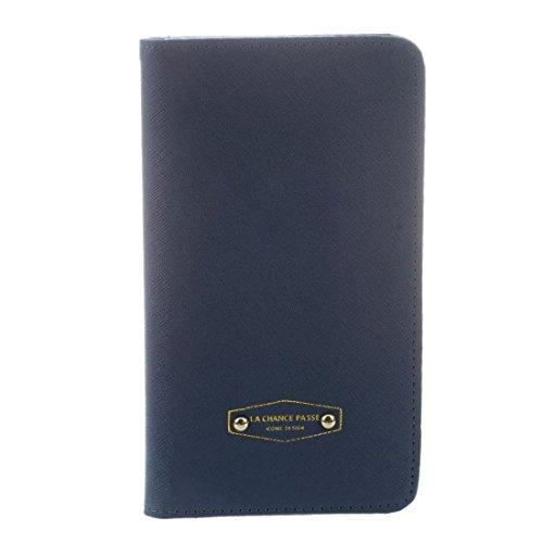 TOOGOO(R) nouvelle mode Porte-passeport de Iconic Anti-demagnetisation en cuir pour femmes carte de credit Pochette de rangement pour ID couleur:bleu marine