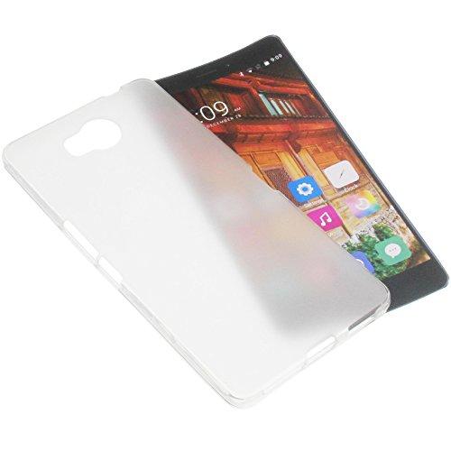 foto-kontor Tasche für Elephone P9000 Lite Gummi TPU Schutz Handytasche transparent weiß