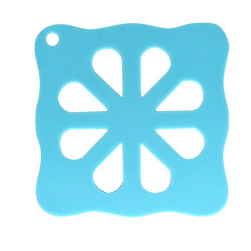 powlance Cartoon Wärmedämmung Silikon Pad Anti-Rutsch-Untersetzer Zubehör für Küche. Peppermint Green Plum Blossom (Green Plum Blossom)