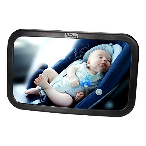 Specchio Retrovisore Auto Specchietto Per Bambini Seggiolino Molto Largo Completamente Sicuro e di Qualità Superiore. Regolabile ed Infrangibilie