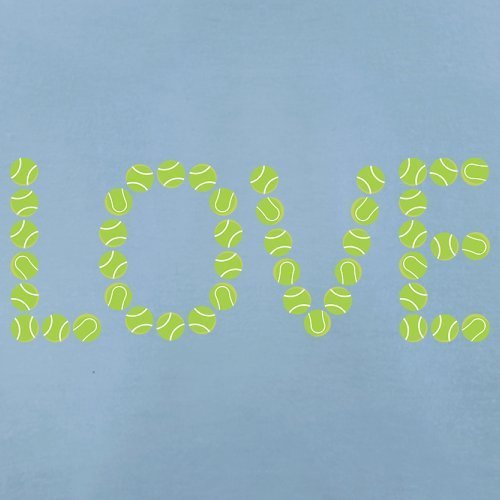 Tennis Love - Damen T-Shirt - 14 Farben Himmelblau