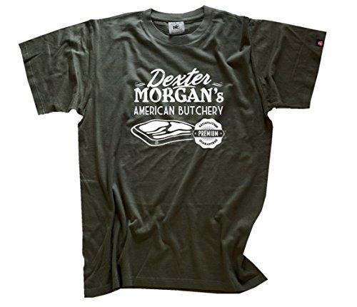 Lustig American Apparel (Famous Movie - Dexter Morgans American Butchery I T-Shirt Olive S)