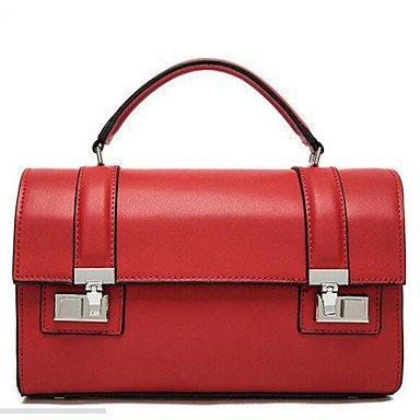 SUNNY KEY-Borsa a tracolla @ Donna Borsa a tracolla PU (Poliuretano) Per tutte le stagioni Casual Cerniera Blu Nero Rosso Kaki , red black