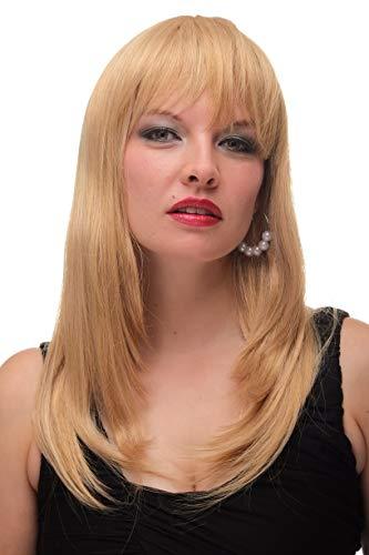 Wig me up Blonde, glatte Perücke mit kurzem Pony 6310-611B 50 ()