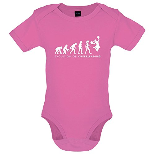 Evolution of Woman - Cheerleading - Lustiger Baby-Body - Bubble-Gum-Pink - 6 bis 12 (Kleinkind Lady Kostüm Pink)