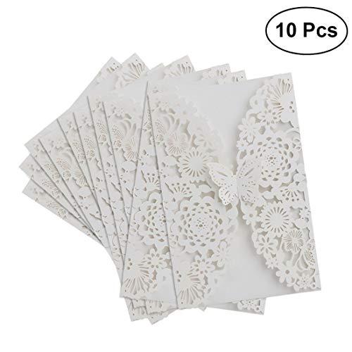 tenlife 100Hochzeit Einladungen Karten Vertikal Laser geschnitten Schmetterling lädt Karten Kits für Verlobung Hochzeit Ehe Geburtstag Brautschmuck Braut Dusche Party