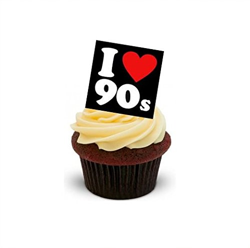 12 x I Love The 90S Edible Wafer Cake Toppers