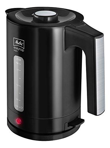 Melitta, Wasserkocher, Easy Top Aqua 1,7 Liter, 2.400 Watt, Schwarz/Edelstahl 1016-04