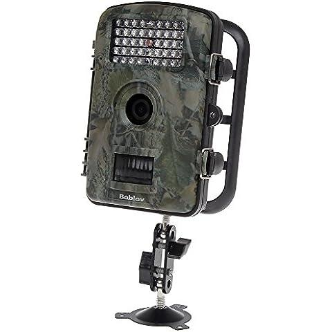 Boblov Blanco de 850nm infrarrojos Trail & Game Scouting Camera 12mp1080p Rango de detección 20m IR de visión nocturna resistente al agua, protección IP56rd1001