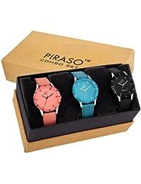 PIRASO Fasttrend Analogue Black Dial Girl's Watch- PW3-07