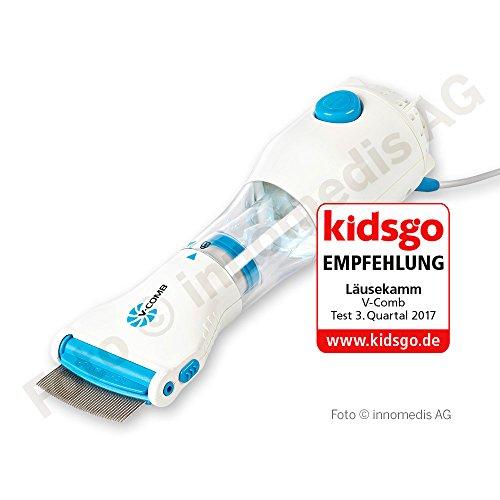 Vakuum-steckdose (Vakuum Läusekamm V-Comb - USB kompatibel – wirksames Läusemittel zur Vorbeugung, Behandlung und Entfernung von Läuseeiern und Kopf-Läusen)
