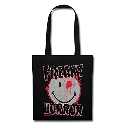 Spreadshirt Smiley World Halloween Freaky Horror Stoffbeutel Schwarz