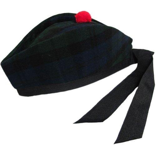 Tango Tartanista - Herren Glengarry-Mütze - ideal für Kilts - mit schottischem oder irischem Tartanmuster - Black Watch - 52 cm