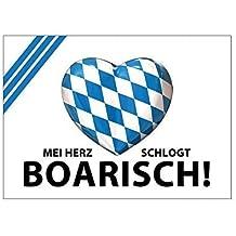 "Aufkleber ""Mei Herz schlogt boarisch!"""