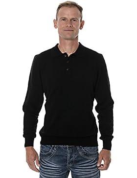 Ugholin - Jersey Cuello Polo 100% Lana de Yak para Hombre