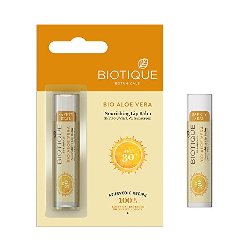 Biotique Bio Aloe Vera Nourishing Lip Balm, 5g