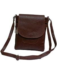 VALGA Brown Premium Quality Faux Leather Cross Sling Bag For Women/Girls