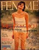 FEMME [No 118] du 01/05/1998 - MILLA JOVOVICH - ZIZANIE CHEZ LES PAPARAZZI - KOSOVO - LA VERITE DE KADARE - LE CAP-VERT DE CESARIA EVORA - EVA HERZIGOVA.