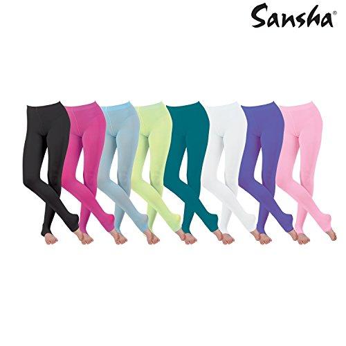 Sansha T96AD Vêtements de danse Collants pour Femme en Nylon Spandex ... 91f7bf3e906