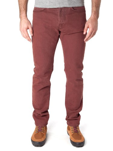 Edwin Ed-80 Slim Overdyed Slim Jeans Mulled Red