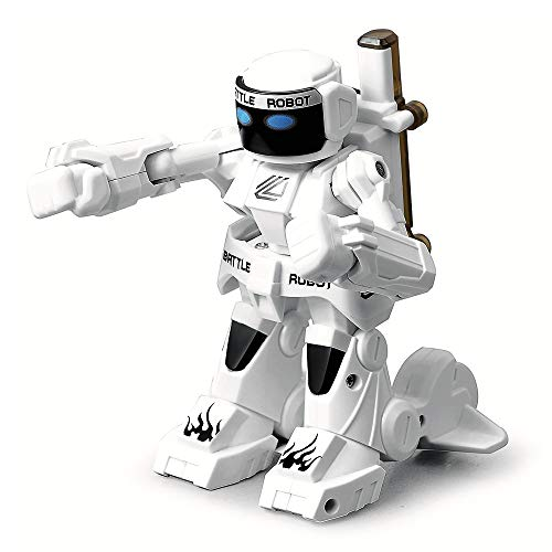 ACOC Inteligente RC Robot Juguete Control Remoto Gesto Robot Kit con Programación Intelectual, Cantando Y Bailando Robots Recargables Multifuncionales para Niños, Regalo De Juguete para Niños,Blanco
