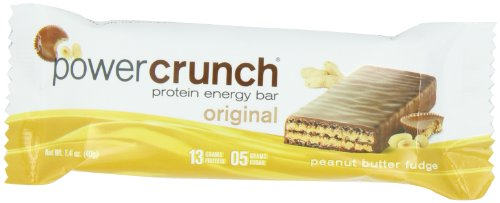 Power-Crunch Protein Energy Bar, Erdnussbutter Fudge, 12 Bars - BNRG