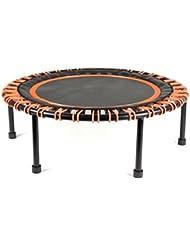 Oiboun Minitrampolin Ø 110 cm | Fitness Trampolin mit Bungee-Seil-System | verstellbarer Härtegrad | Belastbarkeit 150 kg