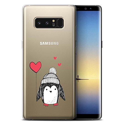 lle/Case für Samsung Galaxy Note 8/N950 / Herz-Ballon Muster/Süßer Doodle Pinguin Kollektion ()