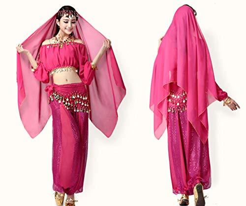 ZYLL Weiblicher Erwachsener Bauchtanz Indianer Tanzkostüm Tanzfest Kostüm - Indianer Kostüm Weiblich