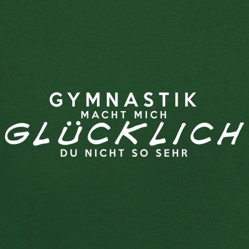Gymnastik macht mich glücklich - Herren T-Shirt - 13 Farben Flaschengrün