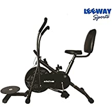 Leeway Air Bike Exercise Cycle| Moving Handle Gym bike| Deluxe Design of Crossfit Fitness| Lifeline for Cardio Work Out| Stamina BGA 2001 Exercise Bike| Dual Action Airbike with Back Rest and Twister