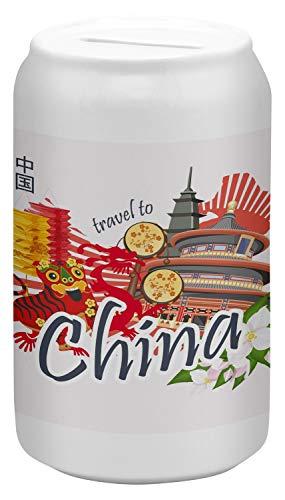 Hucha Trotamundos China Ceramica impreso