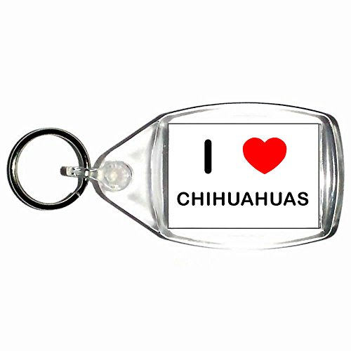 I Love Chihuahuas - Kleine Kunststoffschlüsselanhänger (Chihuahua-taste)