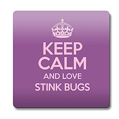 Violet Keep Calm and Love Stink Bugs aimant couleur 2070