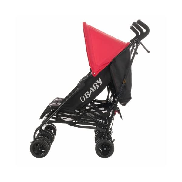 Obaby Apollo Black & Grey Twin Stroller (Red) Obaby Suitable from birth to a maximum weight of 15kg Independently adjustable multi position seat units Independently adjustable hoods 3