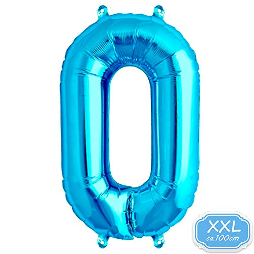 Folienballon Zahl in Blau - XXL 40
