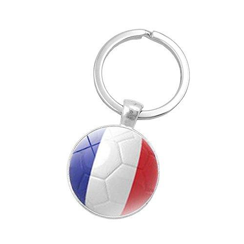 Dtuta Russland-Weltflagge SchlüSselanhäNger FußBall FußBall Deutschland Argentinien Team Exquisite Klein Und Praktisch