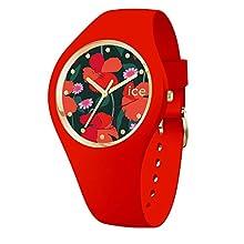 Ice-Watch - ICE flower Floral passion - Orologio rosso da Donna con Cinturino in silicone - 017576 (Small)
